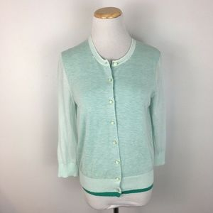 Ann Taylor Women's Green Cardigan Sweater Size M